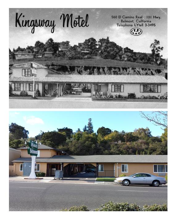 The Kingsway Motel in the 1950's, now remodeled and renamed Hotel Belmont.