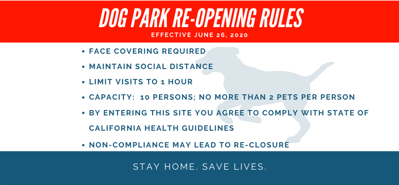 Dog Park Reopening Rules subbanner
