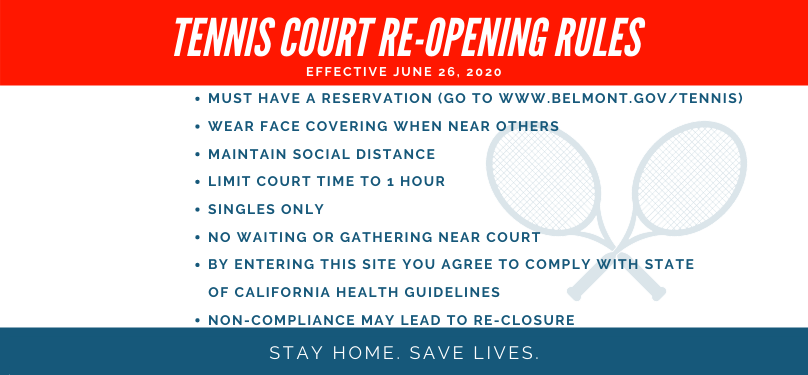Tennis Courts Reopening Rules banner